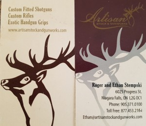 Artisan business card
